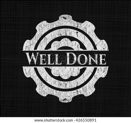 Well Done chalk emblem