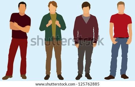 Well dress young men