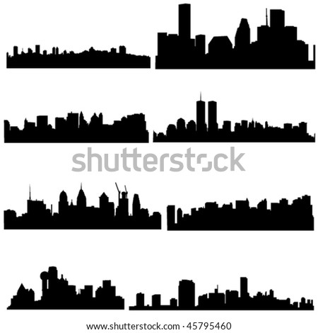 well known american cities in modern architecture stock