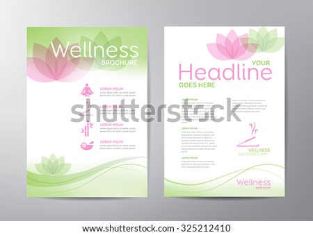wellness brochure template