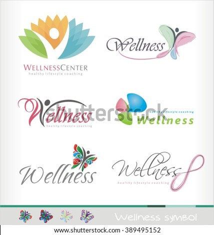 wellness center logo design