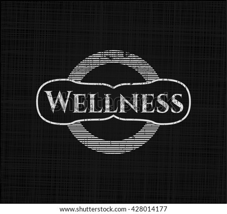 Wellness on chalkboard