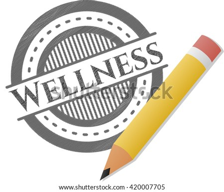 Wellness pencil draw