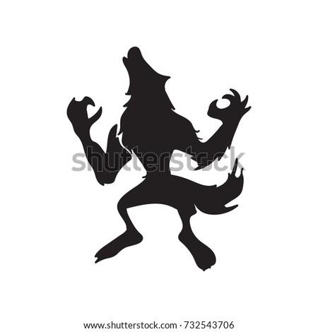 werewolf howling silhouette