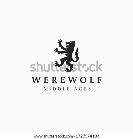 werewolf logo illustration