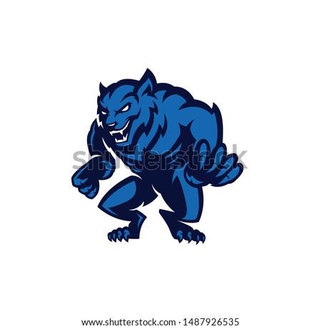 werewolf modern style vector