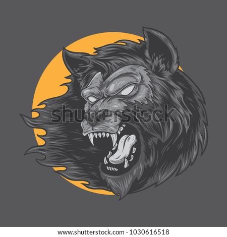 werewolf monster vector