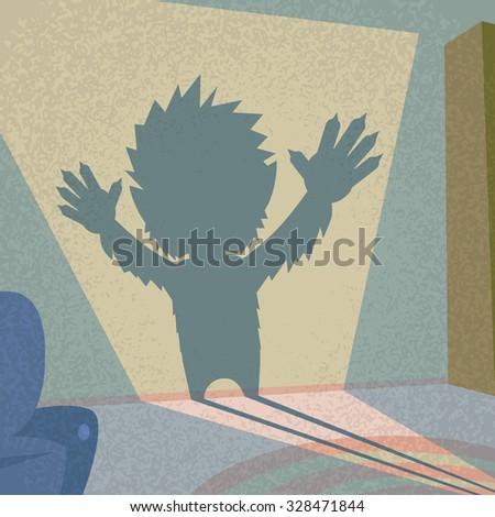 werewolf shadow silhouette