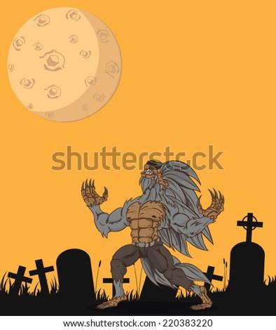 werewolf vector and