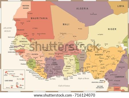 Vintage Ghana Map Illustration Vector Download Free Vector Art