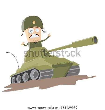 western cartoon soldier in a