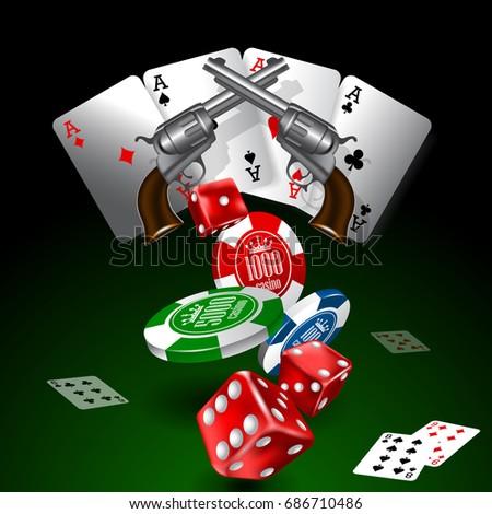 western casino theme background