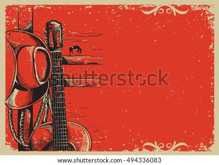 western country music poster...