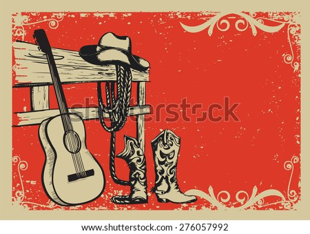 western country music poster