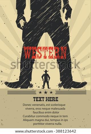 western cowboy duel gunfight