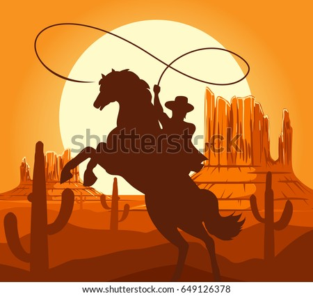 western cowboys silhouette