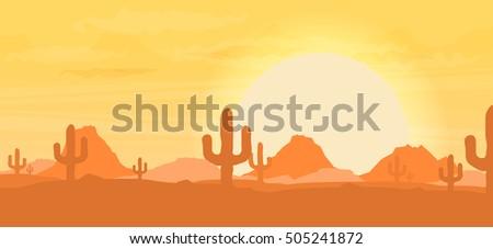 western desert landscape at