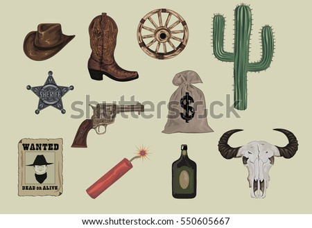 western icons    wild west set...