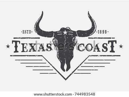 western logo with bull skull