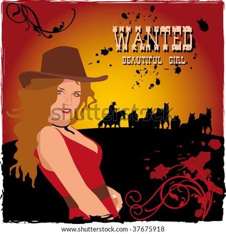 Western Poster with a girl