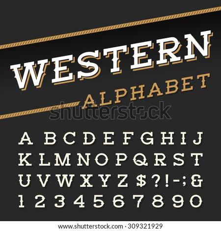 western style retro alphabet...