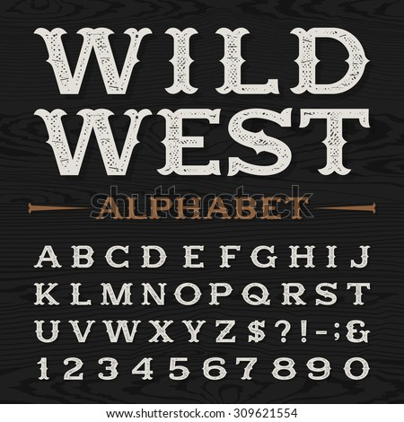 western style retro distressed