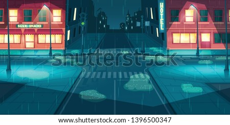 wet and rainy weather in night