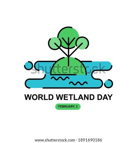 wet land simple illustration