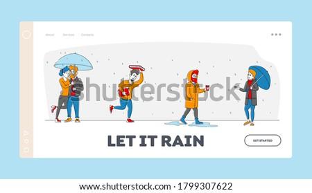 wet rainy autumn or spring day
