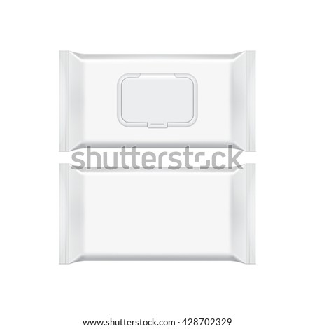 Wall mural Wet wipes package isolated on white background