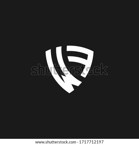 wf monogram logo with shield