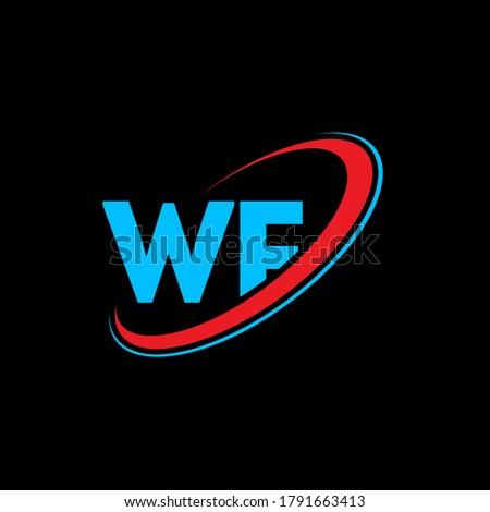 wf w f letter logo design