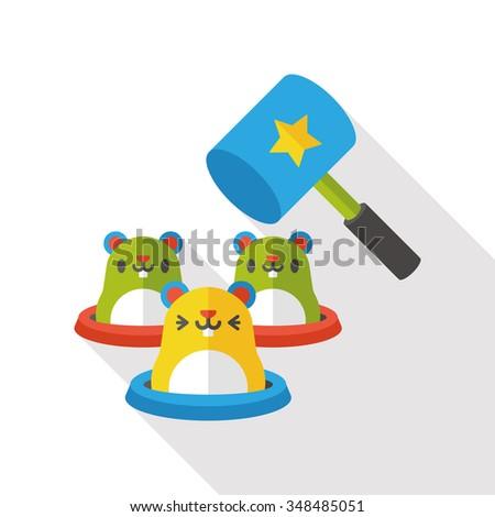 whack-a-mole flat icon Stockfoto ©