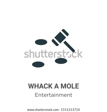 Whack a mole vector icon on white background. Flat vector whack a mole icon symbol sign from modern entertainment collection for mobile concept and web apps design. Stockfoto ©