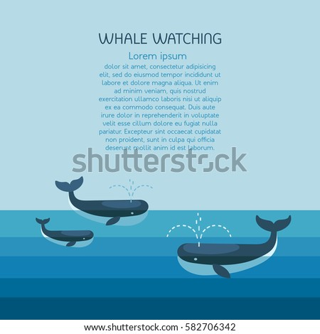 whale family arctic scene with