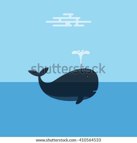 whale spraying water concept