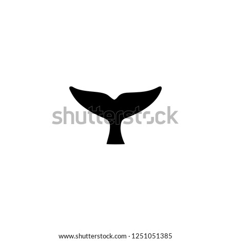whale tail vector icon. whale tail sign on white background. whale tail icon for web and app