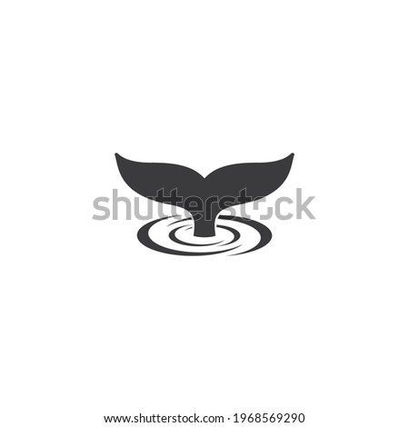 whale tale logo vector icon