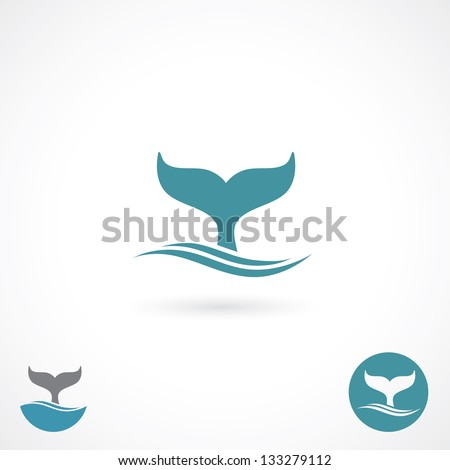 whale tale   vector illustration