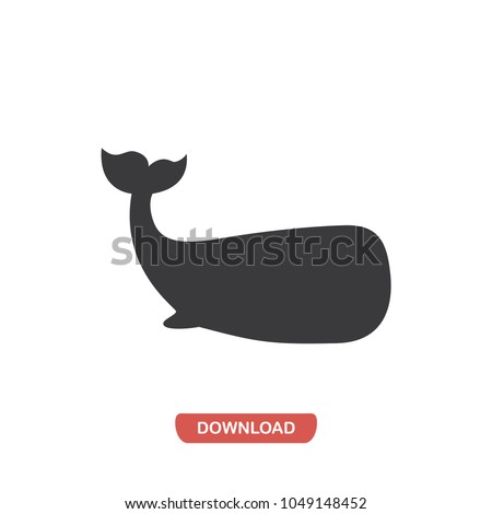 Whale vector icon. Animal,aquatic symbol flat vector sign isolated on white background. Simple vector illustration for graphic and web design.