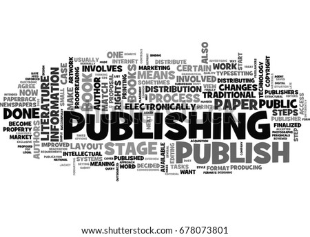 what does it mean to publish