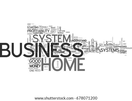 what home business systems can