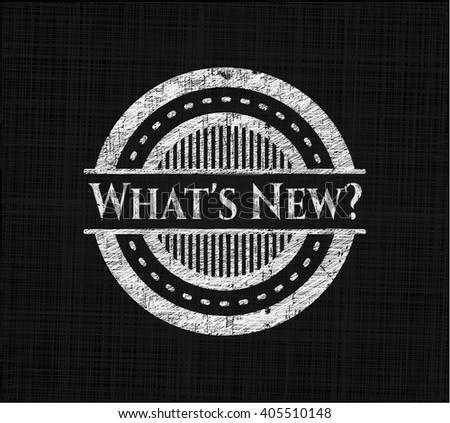 What's New? chalk emblem written on a blackboard