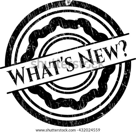 What's New? grunge stamp