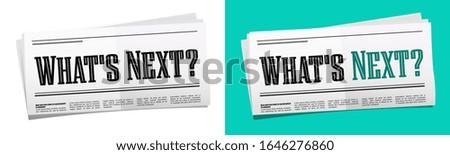 What's next on newspaper headline