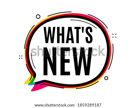 Whats new symbol. Speech bubble vector banner. Special offer sign. New arrivals symbol. Thought or dialogue speech balloon shape. Whats new chat think bubble. Infographic cloud message. Vector Stok fotoğraf ©