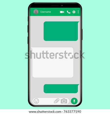 WhatsApp Social network Messenger concept frame , WhatsApp Vector illustration. WhatsApp on mobile phone. WhatsApp on Iphone X