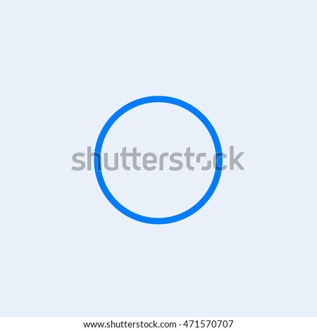 WhatsApp uncheck icon vector, Isolated mobile application empty circle sign