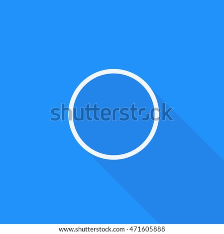 WhatsApp uncheck icon vector, Isolated mobile application empty circle sign long shadow