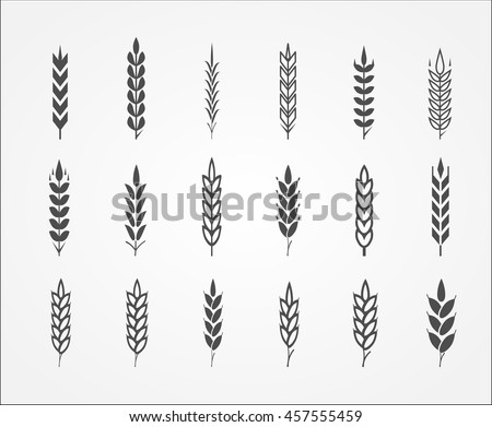 Wheat ear icons